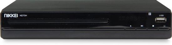 Nikkei ND75H - DVD speler met Full HD-upscaling, HDMI en USB-poort (22,5 cm)