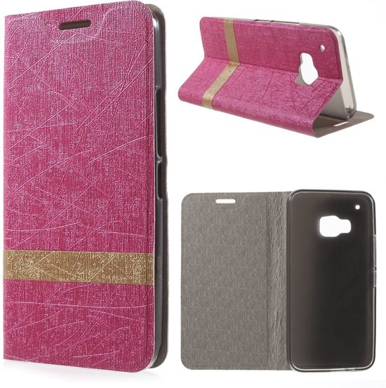 HTC One M9 Hoesje Roze (binnenkant rubber)
