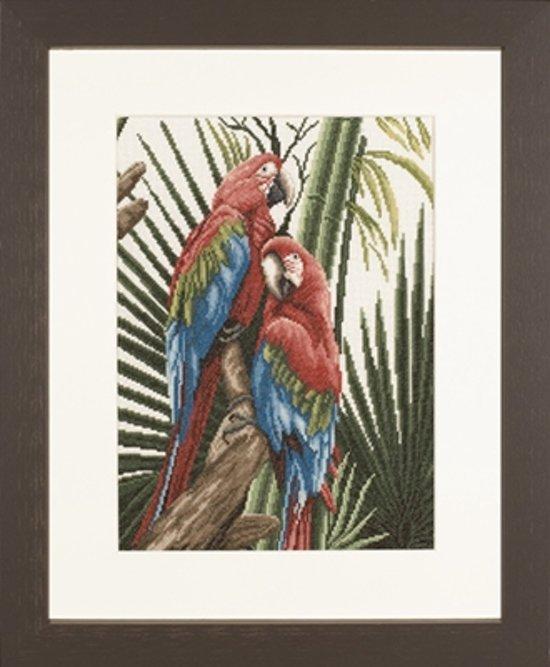 borduurpakket 35057 papegaaien