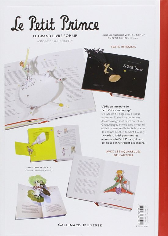 Le Petit Prince Le Grand Livre Pop Up