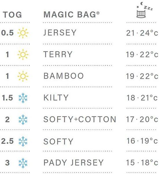 Bemini 0-3 mnd winterslaapzak Pady Jersey grijs 0-3 maanden