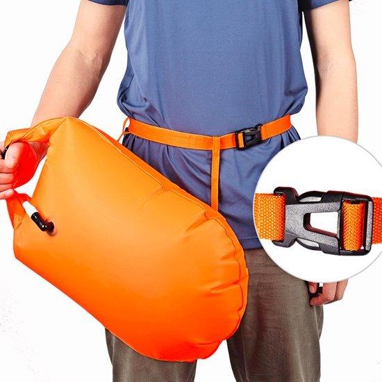 Safe Swimmer - Zwemboei Opblaasbare Drybag - Zwemboei - Drybag - Drybag Zwemmen - Open Water Zwemboei - Zwemtas - Drybag Oranje