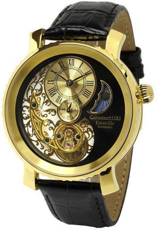 Calvaneo 1583 Calvaneo Estaville Gold Automatic Complication - Horloge - 42 mm - Automatisch uurwerk