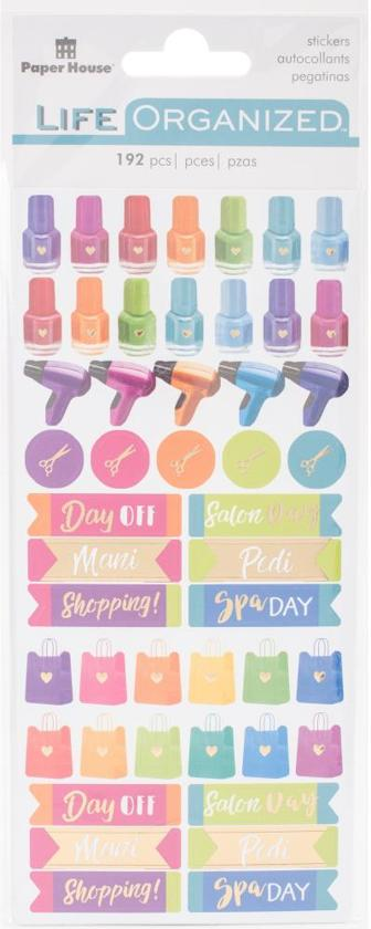 Paper House Life Organized Functional Stickers Me Time