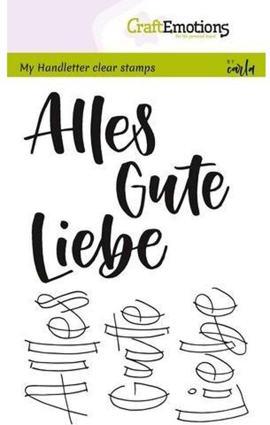 CraftEmotions stempel A6 - handletter - Alles Gute. Liebe(DE)