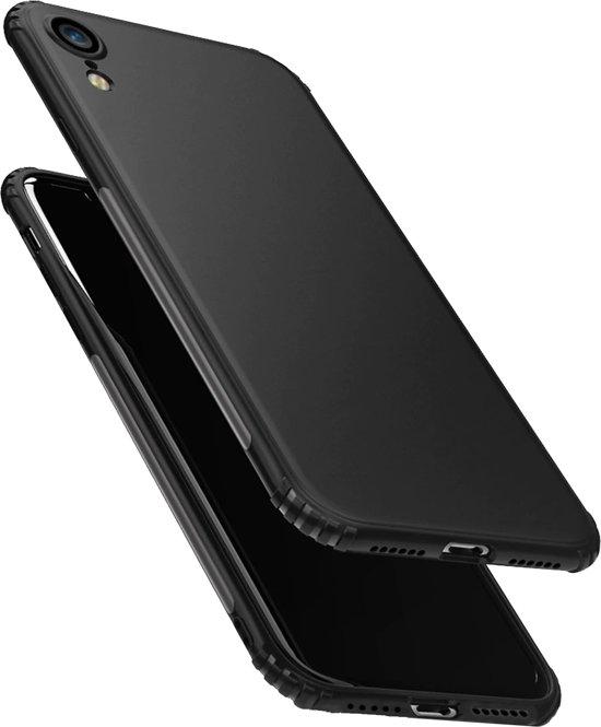 Luxe Extra Stevige zachte TPU Case voor Apple iPhone XR - Rugged Armor - Shockproof Soft Back Cover - Zwart hoesje - versterkte randen - val bescherming - siliconen