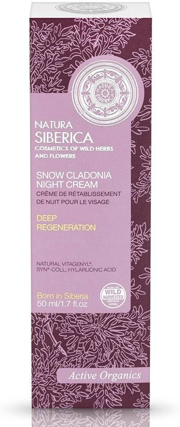 Natura Siberica Snow Cladonia Night Cream 50 ml