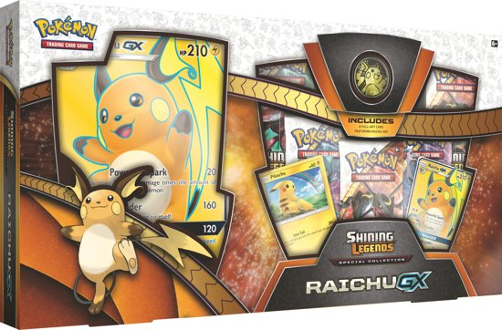 Pokémon Shining Legends Raichu GX - Pokémon Kaarten