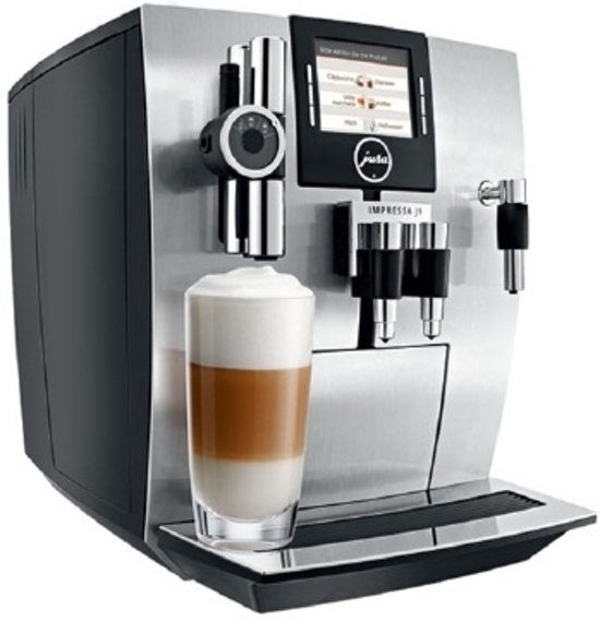 jura impressa j9 4 one touch volautomaat espressomachine pure aluminium. Black Bedroom Furniture Sets. Home Design Ideas