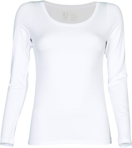 RJ Bodywear - Ronde Hals T-shirt Wit LS - XL