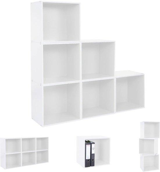 Boekenkast Kubus Wit.Bol Com Boekenkast Kast Vierkant Cube Shelf Boekenkast Muurkast 9