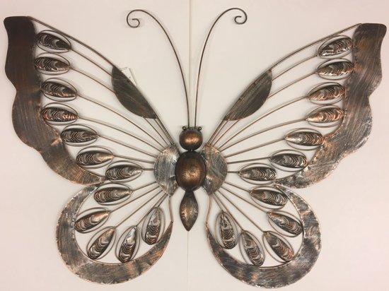 Wanddecoratie Buiten Metaal.Bol Com Wanddecoratie Metalen Vlinder 90 X 62 Centimeter