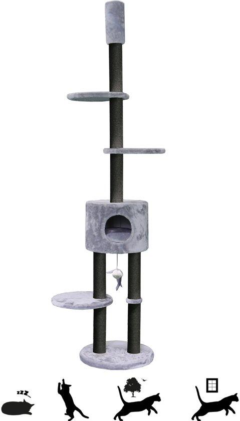 Petrebels Krabpaal Kings & Queens - Anna 240 - royal grey - 240cm - 18,70 kg