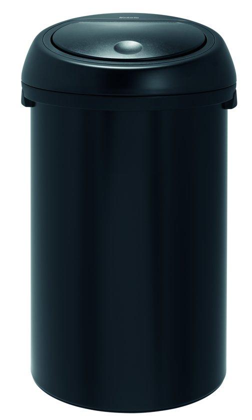 Brabantia Touch Bin 50 Liter Zwart.Afvalverzamelaar 50 Liter Touch Bin Matt Black
