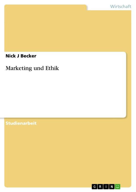 Marketing und Ethik