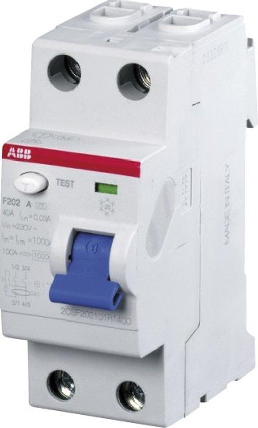 Aardlekschakelaar ABB 2 polig 30mA 2CSF202101r 14 00