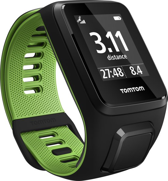 TomTom Runner 3 Cardio GPS Watch - zwart/green - large