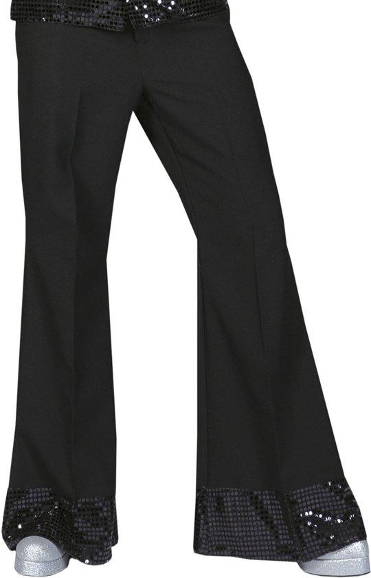 Zwarte disco broek met glitters voor heren - Volwassenen kostuums