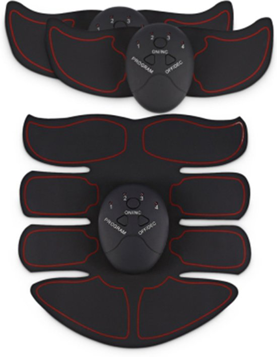 Elektrische 3 Delige EMS Sixpack & Spierstimulator Six Pack - Rood