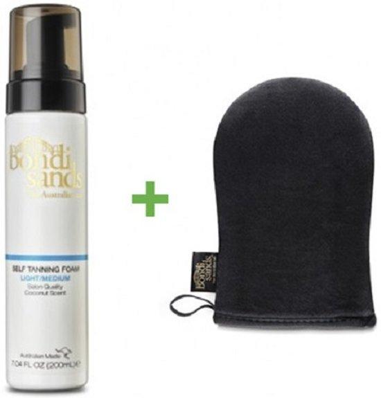 Bondi Sands Self Tanning Foam Light/Medium & Application Mitt Promopakket