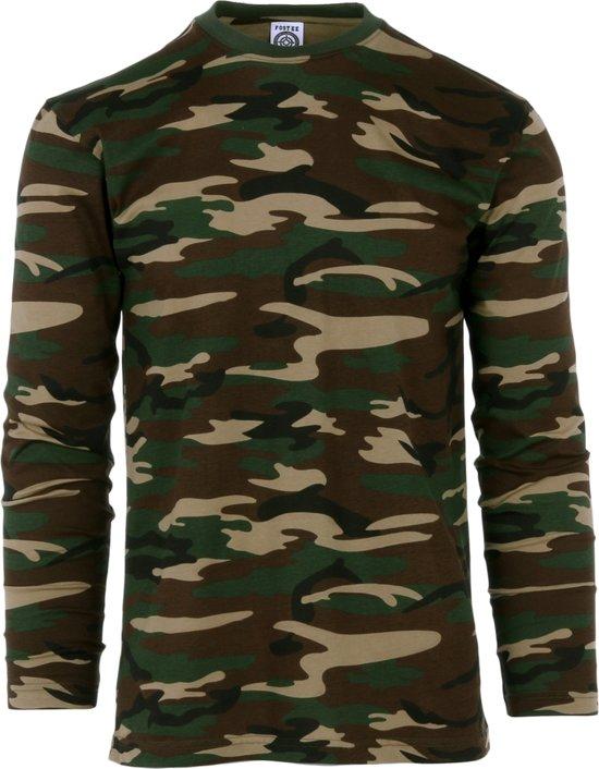 Fostex T-shirt lange mouw camo woodland camo