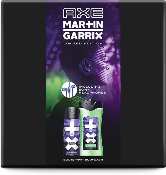 Axe Martin Garrix Geschenkset Ice Breaker Bodyspray & Douchegel 150 ml & 250 ml met Sony in-ear oordopjes - het perfecte cadeau voor muziekliefhebbers - Cadeaupakket