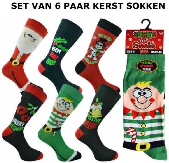 829a15cb755 bol.com | Set van 6 paar heren kerst sokken - maat 39 - 45