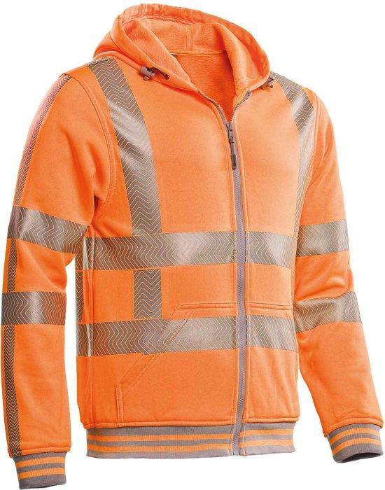 Santino hooded vest met RWS reflectie Vermont - 200173 - fluor oranje - maat L