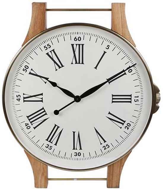 Wandklok Horloge Messing - 65x8xH78 cm