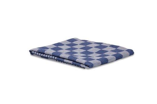 Theedoek blauw geblokt 100% katoen - 70x70 cm - 6 stuks - Wecoline