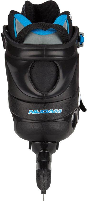 Nijdam Pro-line Norenschaats - Semi-Softboot - Zwart/Zilvergrijs/Blauw - 46