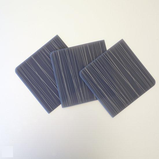 Modern Twist Notz Onderzetter Stream - Moss on Grey - Set van 4 stuks