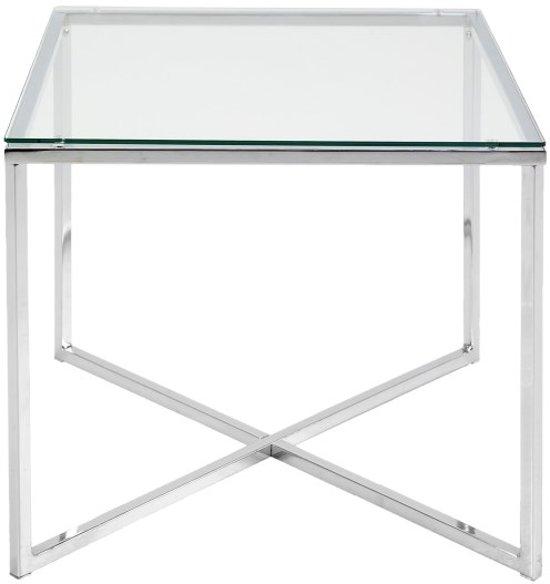 Bijzettafel Metaal Glas.Bol Com Meubelen Online Bijzettafel Criss Vierkant Helder Glas