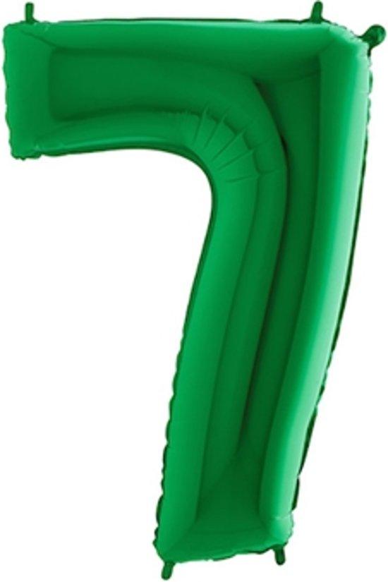 Folieballon cijfer '7 groen (100cm)