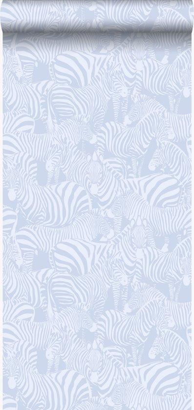 Origin behang zebra's lichtblauw - 346834