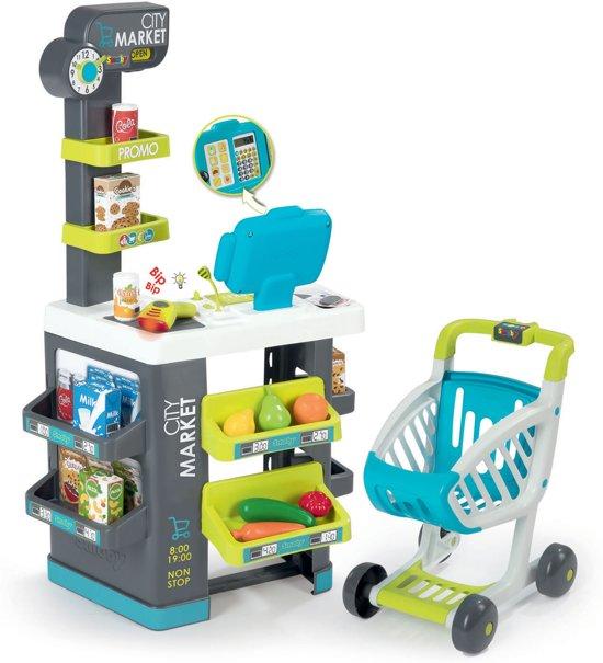 Afbeelding van Smoby Supermarkt met winkelwagen speelgoed