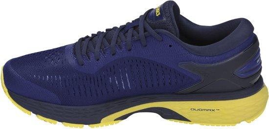 Asics Gel-Kayano 25 Hardloopschoenen Heren  Sportschoenen - Maat 42.5 - Mannen - blauw/geel/zwart