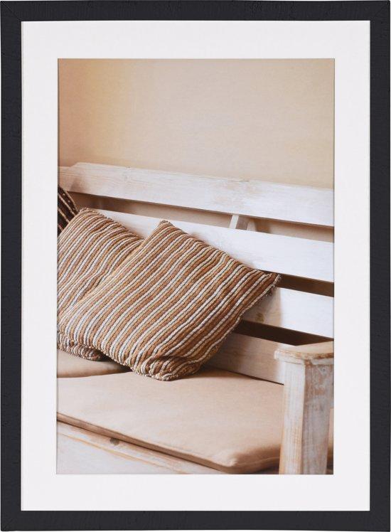 Henzo driftwood fotolijst 50 x 70 cm fotoformaat 50 x 70 40 x 60 cm donker grijs - Badspiegel 50 x 70 ...