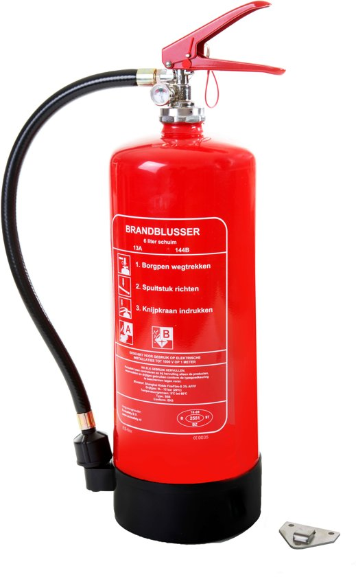 Schuimblusser - 6 liter incl keuringssticker (1 Jaar)