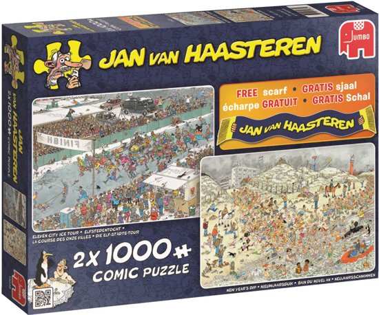 Jan van Haasteren Winter fun 2in1 - Puzzel 2x 1000 stukjes