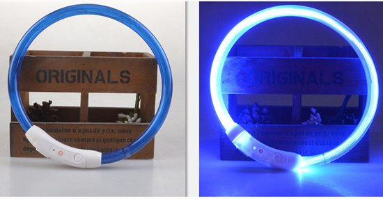 Hondenhalsband Met Licht : Bol hondenhalsband mini puppy led licht micro usb