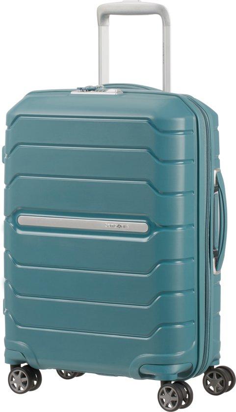 Samsonite Reiskoffer - Flux Spinner 55/20 Uitbreidbaar (Handbagage) Arctic Blue
