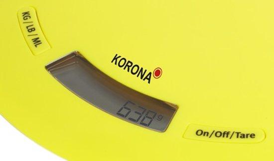Korona 70220 Ronda - Keukenweegschaal - Geel