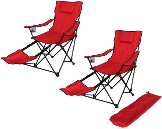 Vouwstoel Met Voetsteun.Bol Com Twee Campingstoelen Met Voetensteun Inklapbaar
