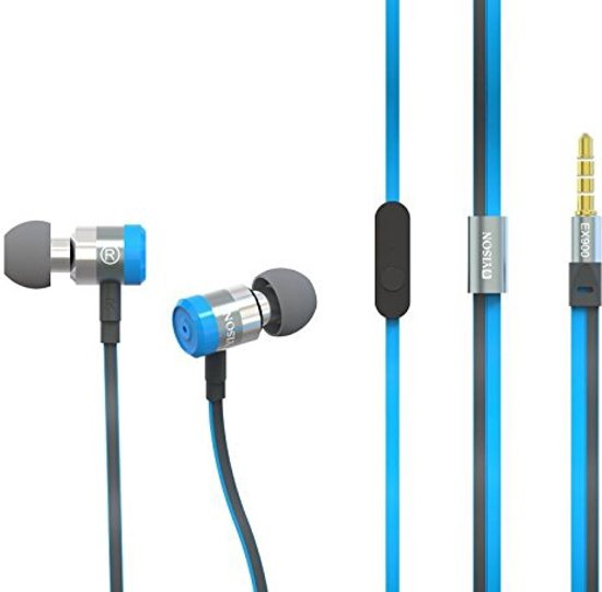 Yison Metal Series EX900 Super Bass Blue In Ear Oortjes headset iPhone 4 5 5S 5C SE 6 6S 7 Plus