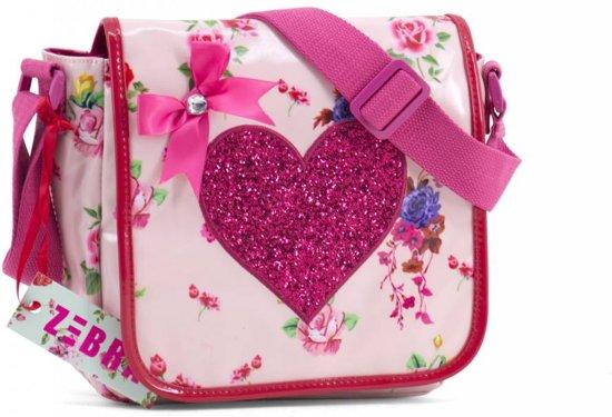 Schoudertassen Kind : Bol zebra trends kinder flaptas romance pink