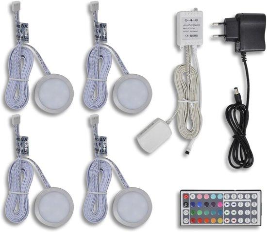 bol.com   RGB LED keuken verlichting kit: 4 stuks + afstandsbediening