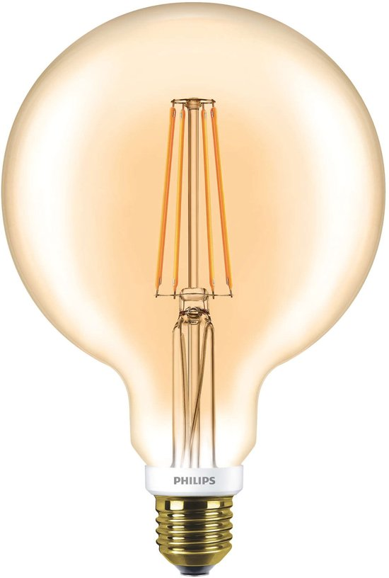 philips classic ledglobe d 7 50w g120 e27 820 goud dimbaar