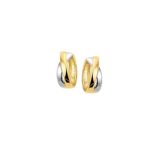 The Jewelry Collection Klapoorringen 4,0 mm - Bicolor Goud