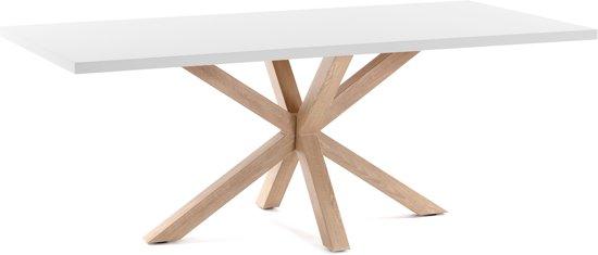 Eettafel Modern Wit.Bol Com Arya Tafel 180x100 Wit Bruin Kave